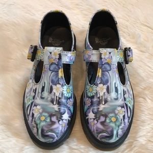 Dr. Martens Slime Floral Polley Mary Jane Shoe